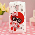 Bling Doll Crystals Hard Cases Covers for Sony Ericsson MT25i Xperia neo L - Red