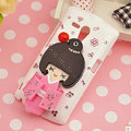 Bling Kimono doll Crystals Hard Cases Covers for Sony Ericsson MT25i Xperia neo L - Pink