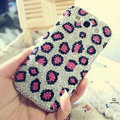 Bling Leopard Crystal Case Pearls Covers for Samsung Galaxy SIII S3 I9300 I9308 I939 I535 - Pink