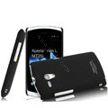IMAK Cowboy Shell Quicksand Hard Cases Covers for Sony Ericsson MT25i Xperia neo L - Black