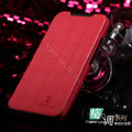 Nillkin England Retro Leather Case Covers for HTC One X Superme Edge S720E G23 - Red