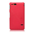 Nillkin Super Matte Hard Cases Skin Covers for Sony Ericsson ST27i Xperia Go - Red