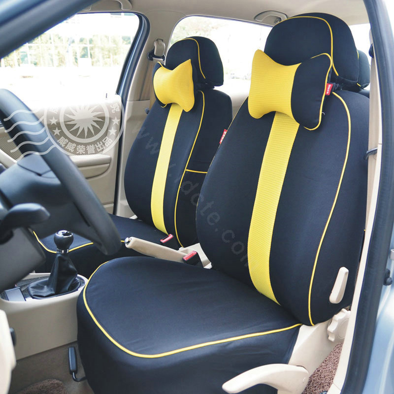 buy wholesale vv diamond mesh 100 cotton autos car seat covers for bmw 128i black yellow. Black Bedroom Furniture Sets. Home Design Ideas