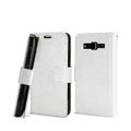 IMAK Slim leather Cases Luxury Holster Covers for Samsung B9062 - White