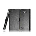 IMAK Slim leather Cases Luxury Holster Covers for Samsung Galaxy Note i9220 N7000 i717 - Black