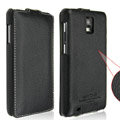 IMAK Slim leather Cases Luxury Holster Covers for Samsung i919 GALAXY SII - Black