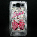 Bling Bow Crystal Cover Diamond Rhinestone Cases For Samsung Galaxy S III 3 i9300 I9308 - Red