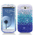 Bling Crystal Cover Rhinestone Diamond Cases For Samsung Galaxy S III 3 i9300 I9308 - Blue
