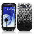 Bling Crystal Covers Rhinestone Diamond Skin Cases For Samsung Galaxy S III 3 i9300 I9308 - Black