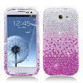 Bling Crystal Covers Rhinestone Diamond Skin Cases For Samsung Galaxy S III 3 i9300 I9308 - Pink