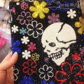Bling S-warovski Skull covers diamond crystal hard cases for iPad 2 / The New iPad - Black