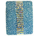 Bling S-warovski covers diamond crystal hard cases for iPad 2 / The New iPad - Blue
