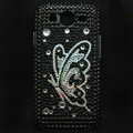Butterfly Bling Crystal Covers Rhinestone Diamond Cases For Samsung Galaxy S III 3 i9300 I9308 - Black