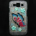Butterfly Bling Crystal Covers Rhinestone Diamond Cases For Samsung Galaxy S III 3 i9300 I9308 - Blue
