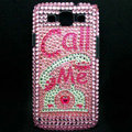 Call me Bling Crystal Cover Diamond Rhinestone Cases For Samsung Galaxy S III 3 i9300 I9308 - Pink
