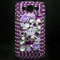 Flower 3D Bling Crystal Cover Diamond Rhinestone Cases For Samsung Galaxy S III 3 i9300 I9308 - Purple