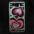 Heart Bling Crystal Covers Rhinestone Diamond Cases For Samsung Galaxy S III 3 i9300 I9308 - Red