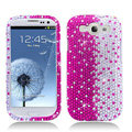Hot Bling Crystal Cover Rhinestone Diamond Cases For Samsung Galaxy S III 3 i9300 I9308 - Pink