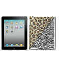 Leopard Bling Crystal Cases Diamond Rhinestone Hard Covers for iPad 2 / The New iPad - Brown