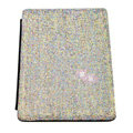 Luxury Bling Holster covers diamond crystal Leather cases for iPad 2 / The New iPad - Black