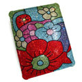 S-warovski Bling Flower covers diamond crystal hard cases for iPad 2 / The New iPad - Red