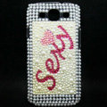 Sexy Bling Crystal Cover Diamond Rhinestone Cases For Samsung Galaxy S III 3 i9300 I9308 - White