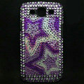 Star Bling Crystal Covers Rhinestone Diamond Cases For Samsung Galaxy S III 3 i9300 I9308 - Purple