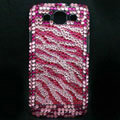 Zebra Bling Crystal Cover Diamond Rhinestone Cases For Samsung Galaxy S III 3 i9300 I9308 - Rose