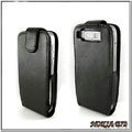 IMAK Colorful leather Cases Holster Covers for Nokia E72 - Black