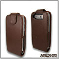 IMAK Colorful leather Cases Holster Covers for Nokia E72 - Coffee