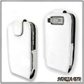 IMAK Colorful leather Cases Holster Covers for Nokia E72 - White