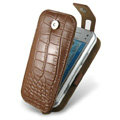 IMAK Flip Crocodile leather Cases Luxury Holster Covers for Nokia N97 mini - Brown