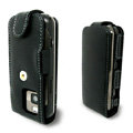 IMAK Flip Genuine leather Cases Holster Covers for Nokia N97 mini - Black