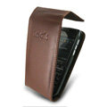IMAK Flip leather Cases Holster Covers for Nokia E72 - Coffee