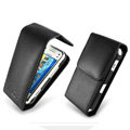 IMAK Flip leather Cases Holster Covers for Nokia N97 mini - Black