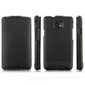 IMAK Jazz Super-Slim leather Cases Luxury Holster Covers for Samsung i9100 i9108 i9188 Galasy S2 - Black