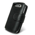 IMAK Side Flip Genuine leather Cases Holster Covers for Nokia E72 - Black