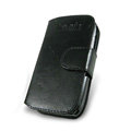 IMAK Side Flip leather Cases Holster Covers for Nokia E72 - Black