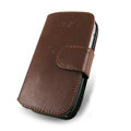 IMAK Side Flip leather Cases Holster Covers for Nokia E72 - Brown