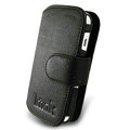 IMAK Side Flip leather Cases Holster Covers for Nokia N97 mini - Black