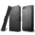 IMAK Slim leather Cases Luxury Holster Covers for HTC One V Primo T320e - Black