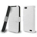 IMAK Slim leather Cases Luxury Holster Covers for HTC One V Primo T320e - White