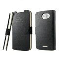 IMAK Slim leather Cases Luxury Holster Covers for HTC One X Superme Edge S720E G23 - Black