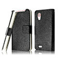 IMAK Slim leather Cases Luxury Holster Covers for HTC T328t Desire VT - Black