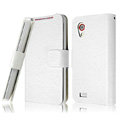 IMAK Slim leather Cases Luxury Holster Covers for HTC T328t Desire VT - White