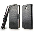 IMAK Slim leather Cases Luxury Holster Covers for Lenovo A790e - Black