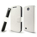 IMAK Slim leather Cases Luxury Holster Covers for Lenovo A790e - White