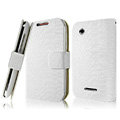 IMAK Slim leather Cases Luxury Holster Covers for Motorola XT550 - White