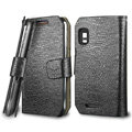 IMAK Slim leather Cases Luxury Holster Covers for Motorola XT760 - Black