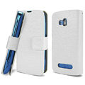 IMAK Slim leather Cases Luxury Holster Covers for Nokia Lumia 610 - White
